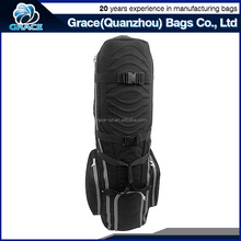 heavy-duty adjustable clamps multi compartment golf cart bag with wheels