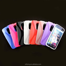 Bright ultra thin soft clear tpu case for moto x + xt1097 various color high quality