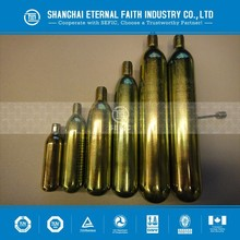25.6mm outside diameter, small CO2 cylinder , CO2 gas cartridge with low pressure and steel material