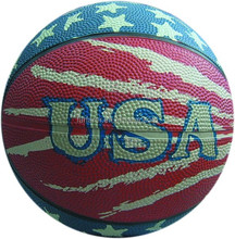USA promotional 8 panels rubber basketball