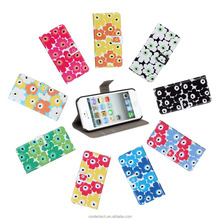 Wholesale Alibaba Mobile Phone Accessories sun flower Pattern Leather Wallet Flip Cover Case for iPhone 5 5s with many colors