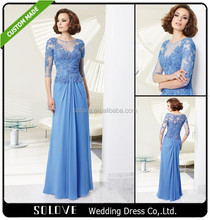 Elegant Appliqued Young Mother Of The Bride Dresses With Sleeves