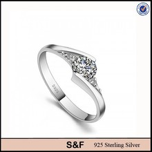 Quality S925 Diamond Ring Single Cut Diamonds Jewelry