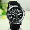 Cheap New Vintage Big round Dial Silicone Strap fashion Sports Quartz Analog WristWatches men wrist watch