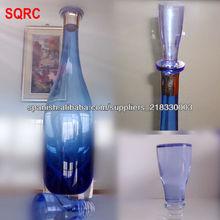 Inventario! vidrio de botellas de vino azules superposición de lujo