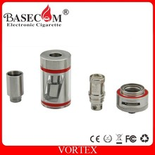 New Arrival Basecom Vortex Botom Vertical Dual Coils Sub Ohm Tank with organic cotton coil vs horizon arctic sub ohm tank