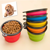 Round Travel Silicone Collapsible Dog Bowl