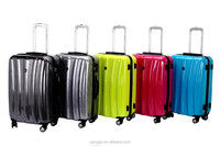 Colorful abs luggages selling hot