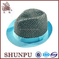 Wholesale Woman Summer Peru Straw Fedora Hats In Factory
