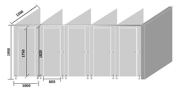Compact stratifi piscine center vestiaire partition - Cabine de douche petite taille ...