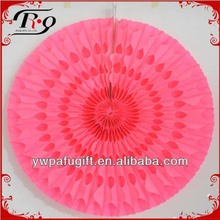 wedding and party decoration tissue paper fan
