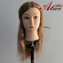 Cheap price nature hair training mannequin head for hairdresser