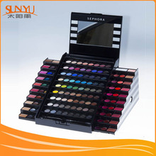 Double Ended Eye Shadow Brush Mirror Counter Top Display Chowcase