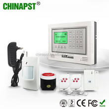 10 Wireless & 4 Wired Zones GSM network LCD Display home intruder alarm systems/security systems home PST-GA104TCQ