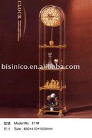 Luxury Italy style antique 24K gold plated bronze floor clock( made of copper),MOQ:1PC(B18022)