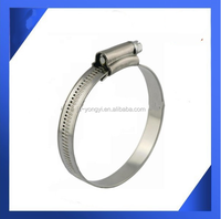 Factory supply ! stainless steel 9mm bandwidth 118-140mm SS201 stainless steel British Type worm drive hose clamp fire hose used