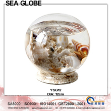 2015 Crystal Ball With Sea Life and Water Inside Free Glass Stand YSG12