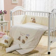 2015 european Baby Bedding Set cartoon baby cot sets wholesale