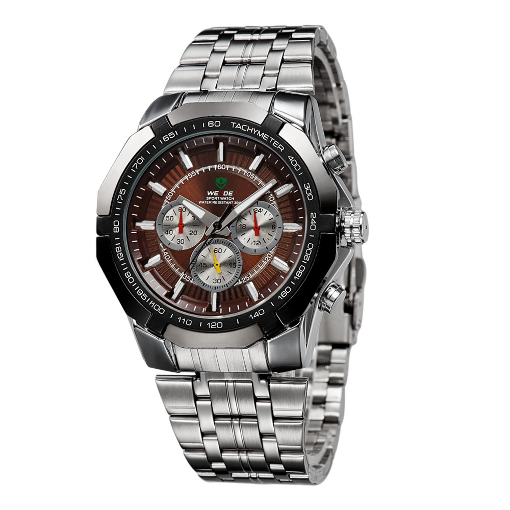 weide 30m waterproof watches stainless steel cool
