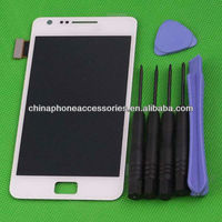 Original lcd display digitizer assembly complete for galaxy s2 lcd white
