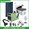 Acesum portable solar power system with magnetic LED light for home use