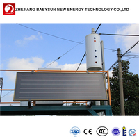Integrated Pressurized Flat Plate Solar Water Heating System with Copper Coils Tank