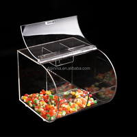 plastic storage box with sliding lid,fashionable acrylic mini candy bin wholesale