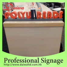Double side Metal Welding Letters Stand sign