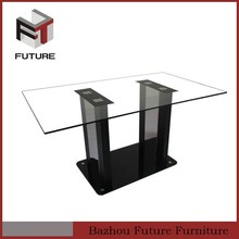 New fashion clear glass stable legs dining room furniture