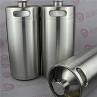 Stainless steel one gallon growler for beer filling machinery