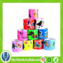 promotional glow in the dark logo band silicone rubber snap bracelet,business gift/party gift silicone snap bracelet