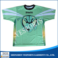 Full over sublimation printing make your own custom t shirt printing