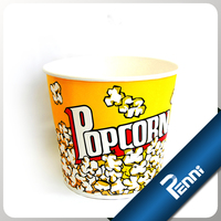 46oz custom logo printed popcorn buckets