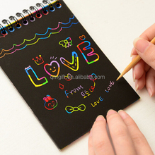 2015 new design Children dream of painting paper scraping scratch set fairy tale theme creative handmade painting