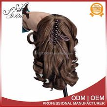 Wholesale price synthetic fiber kanekalon ponytail hair extension, micro thin weft hair extension