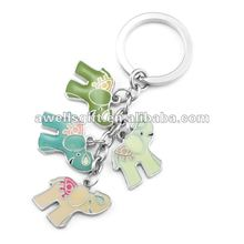 elephant metal key chain