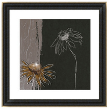 Simple flower Framed wall hanging 3d pictures natural