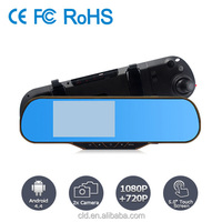 Android system wifi and gps support dual camera full 1080P hd car black box