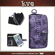 Purple Snake Pattern Leather Wallet Case for iphone 6 plus