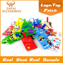 more than 10+ designs, creative colorful soft pvc luggage tag with various color/luggage tag with various pictures