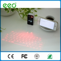 LCD screen bluetooth laser projector keyboard with mouse function for Smartphone