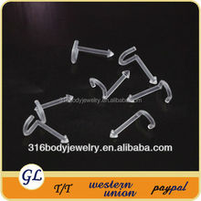 NR01046 Clear newest design acrylic nose stud