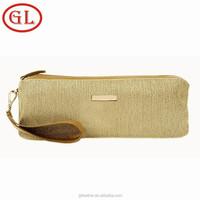 New design Fashion gold metal zipper Cosmetic Bags, Girl metal zipper Makeup Bag