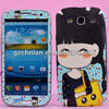 Popular cartoon style cell phone case stickers for Samsung galaxy s3