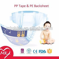 PE film & pp tape disposable economic baby diapers/nappies