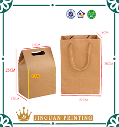 China Factory Recycled Custom Craft Paper Gift Packaging Bag