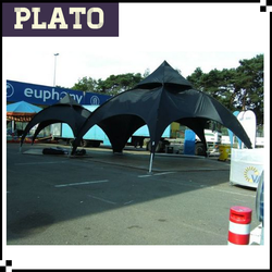 Oxford cloth black 4.5m dome tent / arch tent for large events