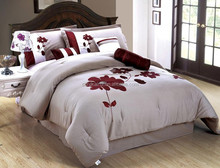 Luxury Nantong Comforter Bedding Sets ,4PC 100% Polyester bedding set in beautiful colour and design