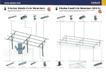 single pole solar ground mounting, solar panel frame , ST2