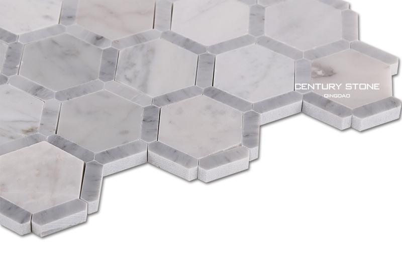 Eeuw honingraat patroon gepolijste tegels voor de badkamer vloer ...